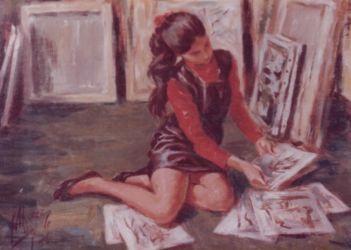 En el taller.- 1975