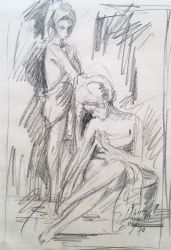 Boceto Figuras. 1970